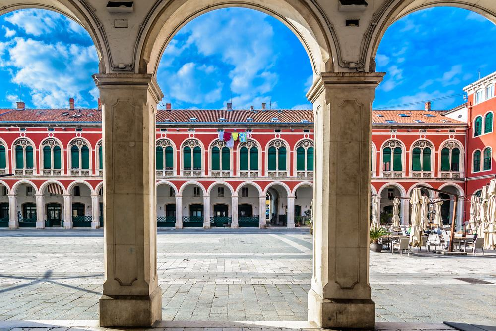 Old Town Square in Split, Croatia