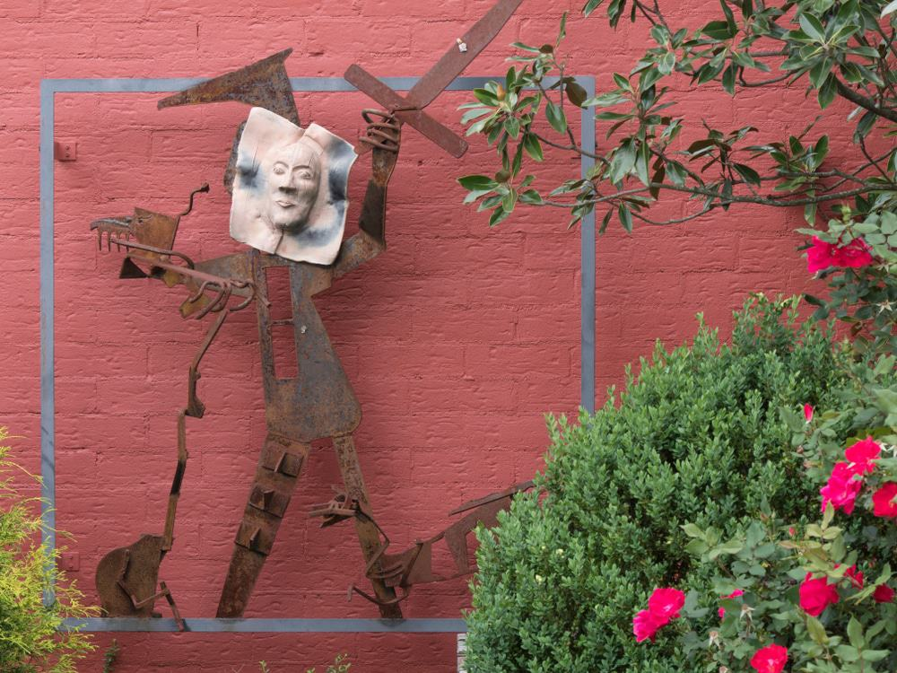 Sculpture On The Side Of Asheville Community Theater