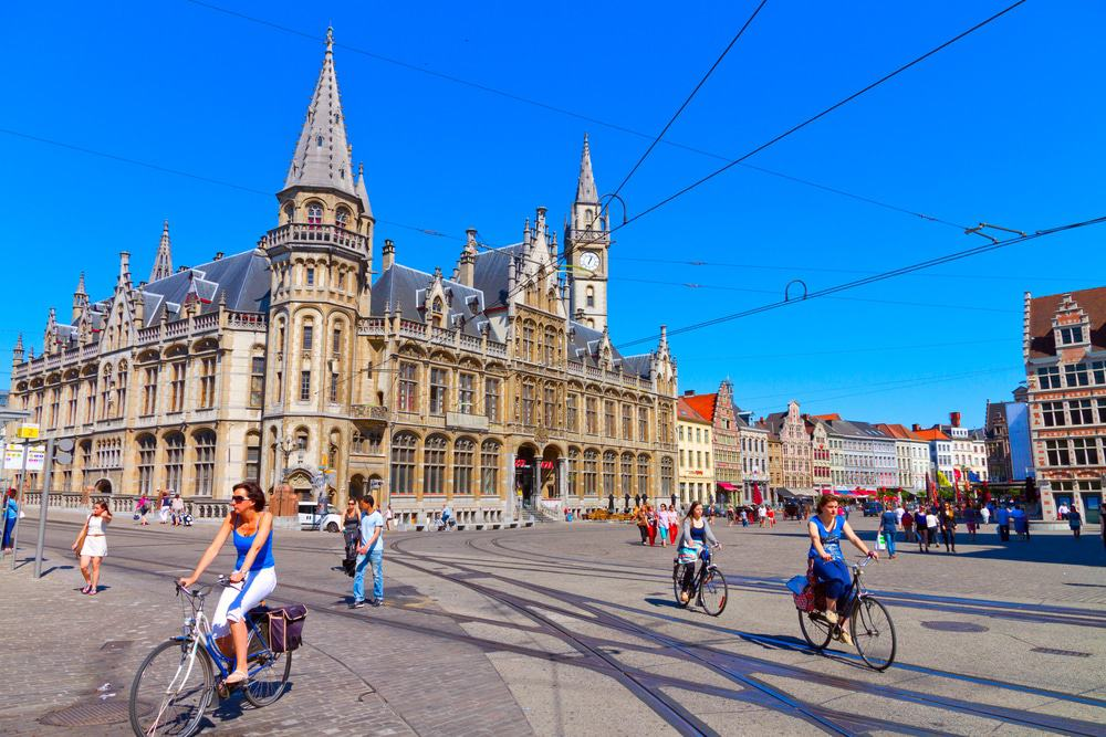 Cyclists in Ghent