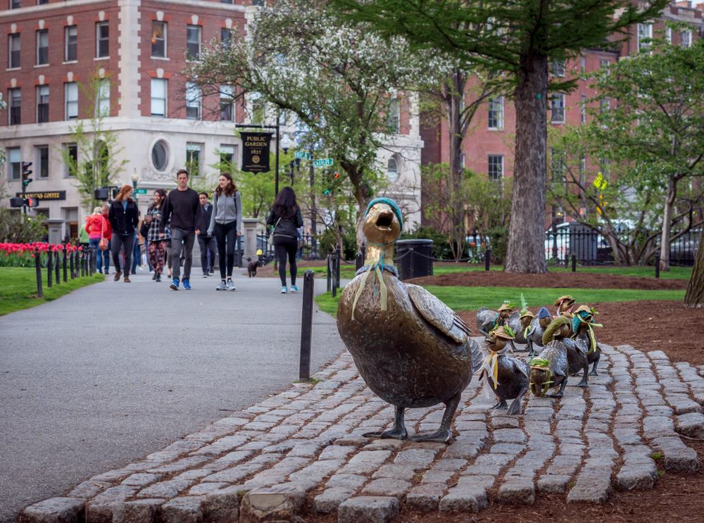 Make Way For Ducklings, Boston