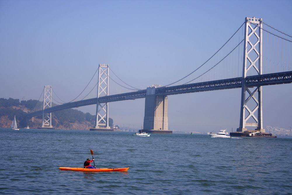 Kayaking Under The Bay Bridge