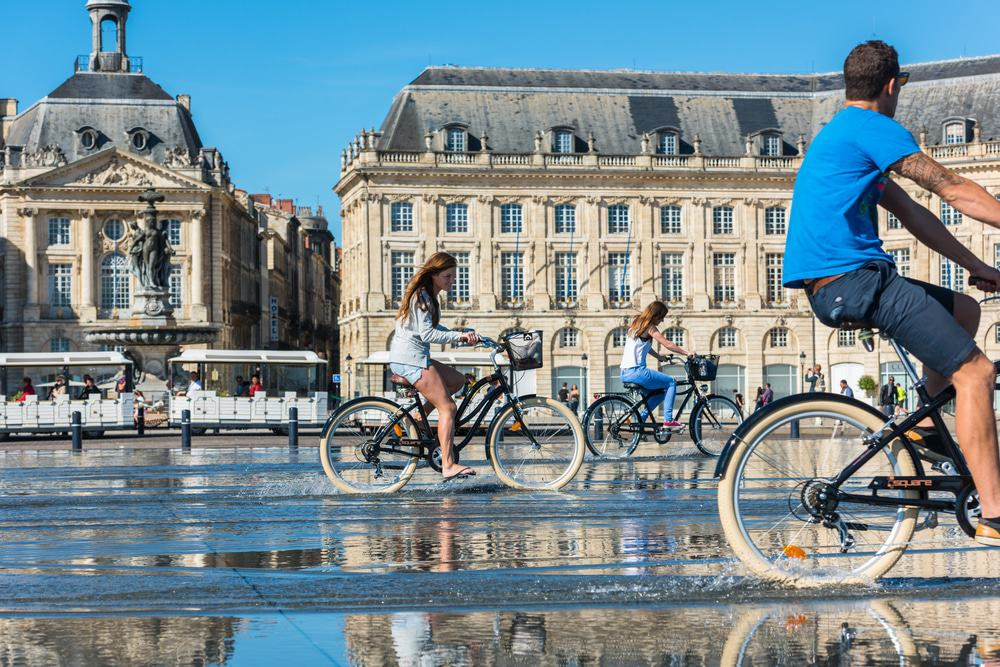 Cyclists in Bordeaux