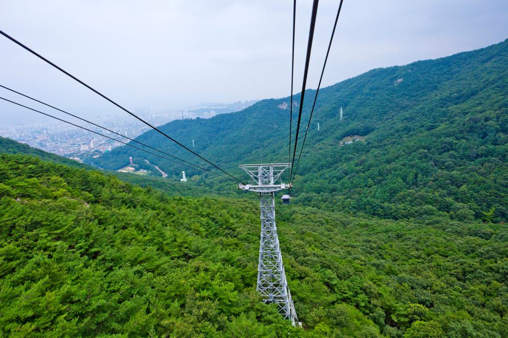 The Cable Car At Apsan Park