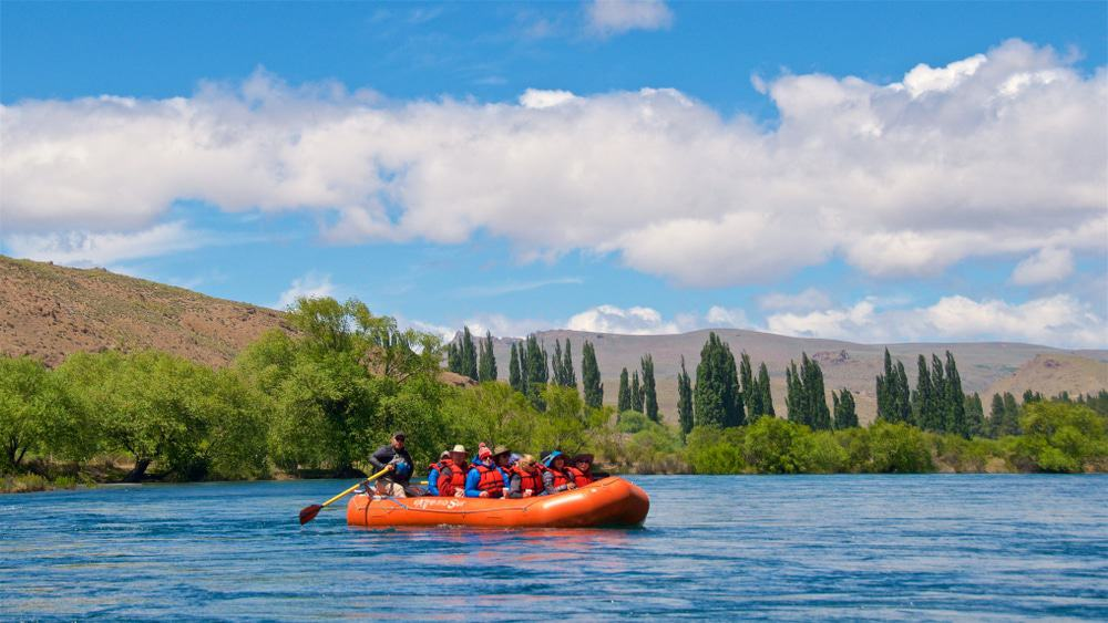Rafting along the Limay River in Bariloche