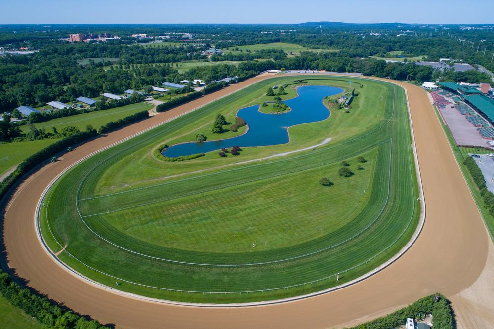 Aerial Image Of The Delaware Park And Race Track