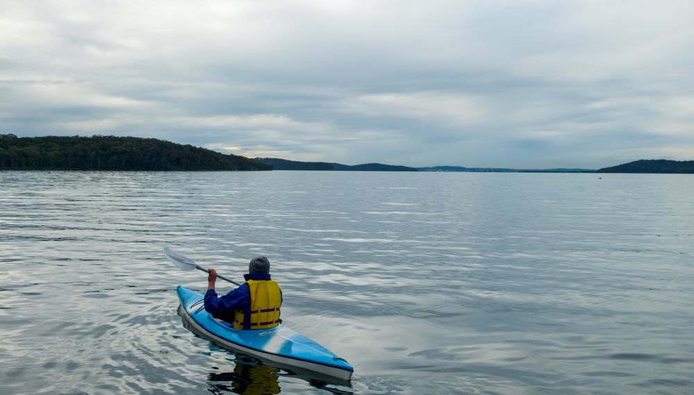 Kayaking, Lake Macquarie