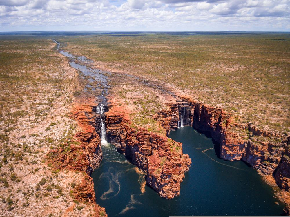 Aerial View Of King George Falls