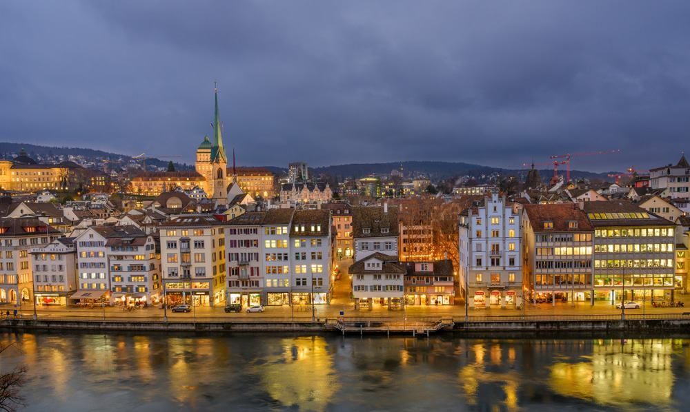 View of Old Town in Zurich
