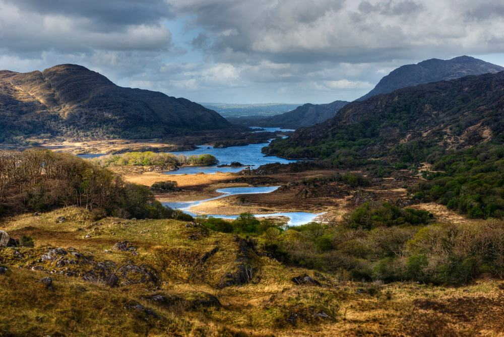 View over Lakes and Mountains in Ring of Kerry