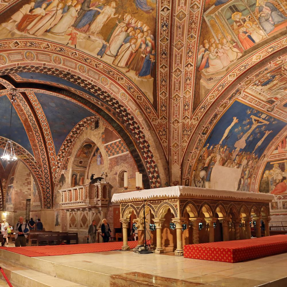 Interior of the Basilica of St. Francis