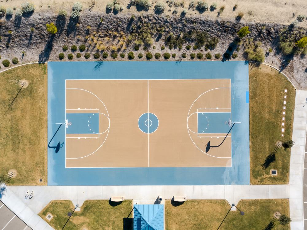 Basketball Court in Canyon Hills Community Park