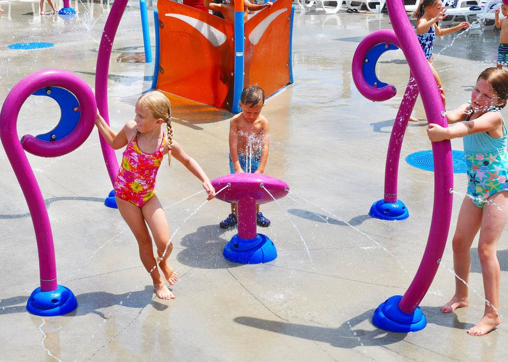 Splash Pad at Swift-Cantrell Park