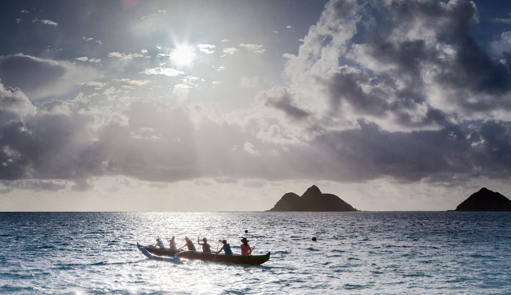 Canoeing in Lanikai Beach