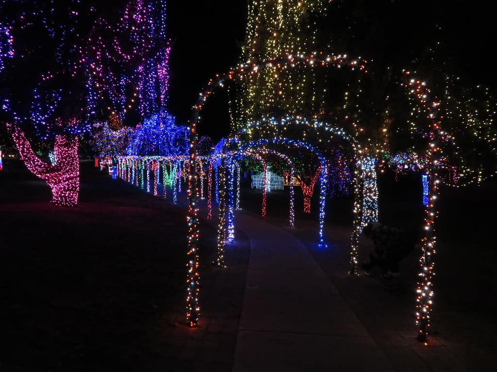 Locomotive Park Holiday Lights