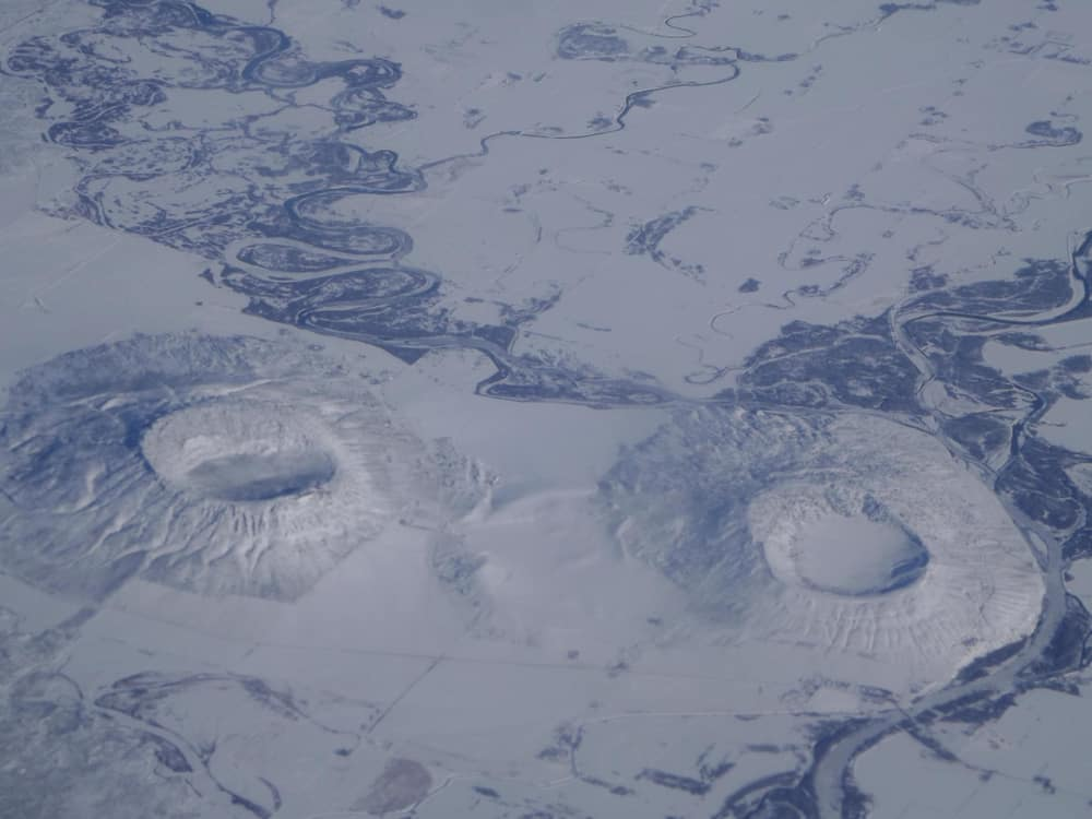 Snow Covered Menan Buttes