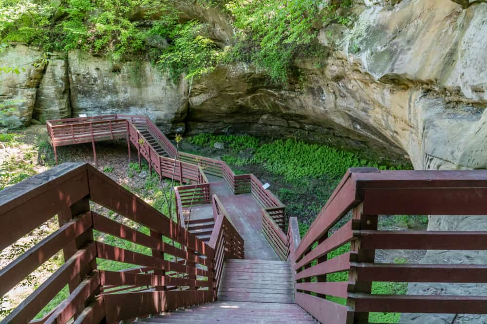 Indian Cave State Park in Shubert